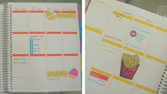 semana decorada no planner