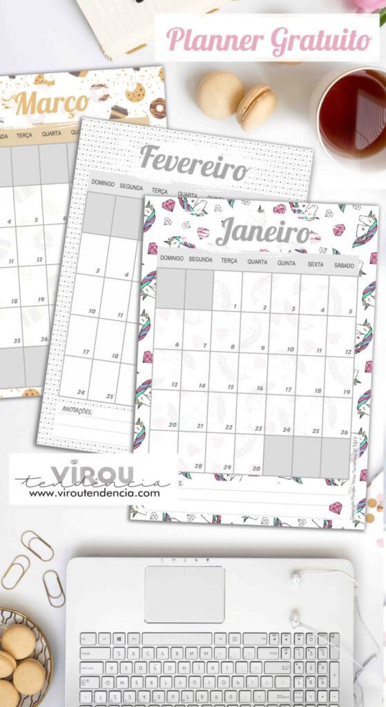 Planner Gratuito 2019 para Download