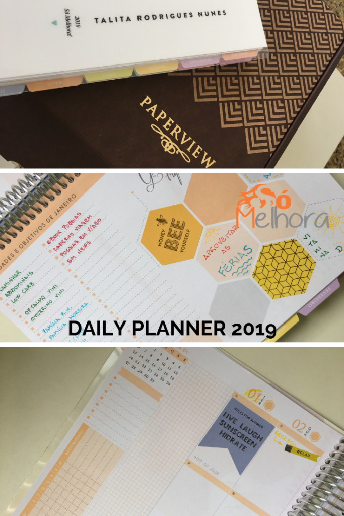 detalhes do Daily Planner 2019 Paperview