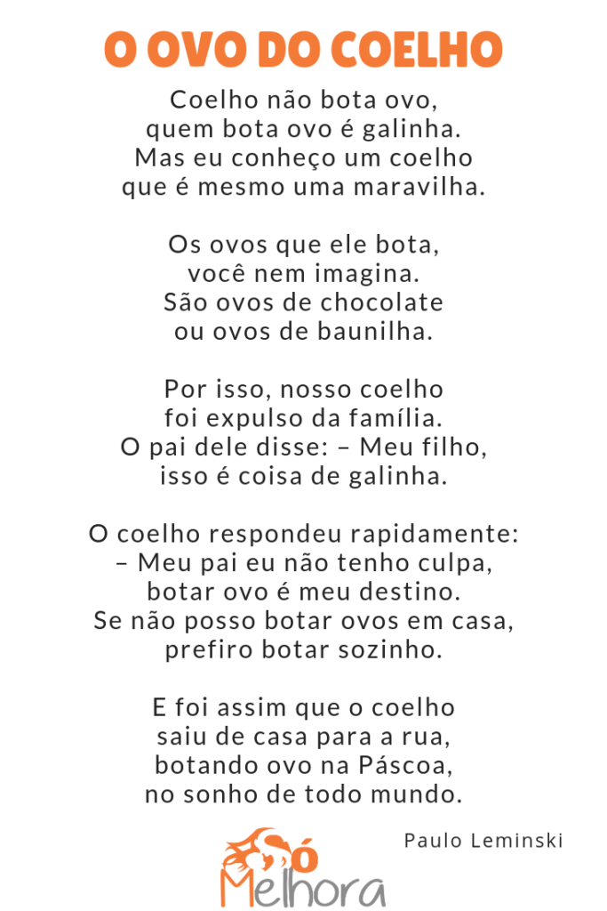 íntegra do poema o ovo do coelho