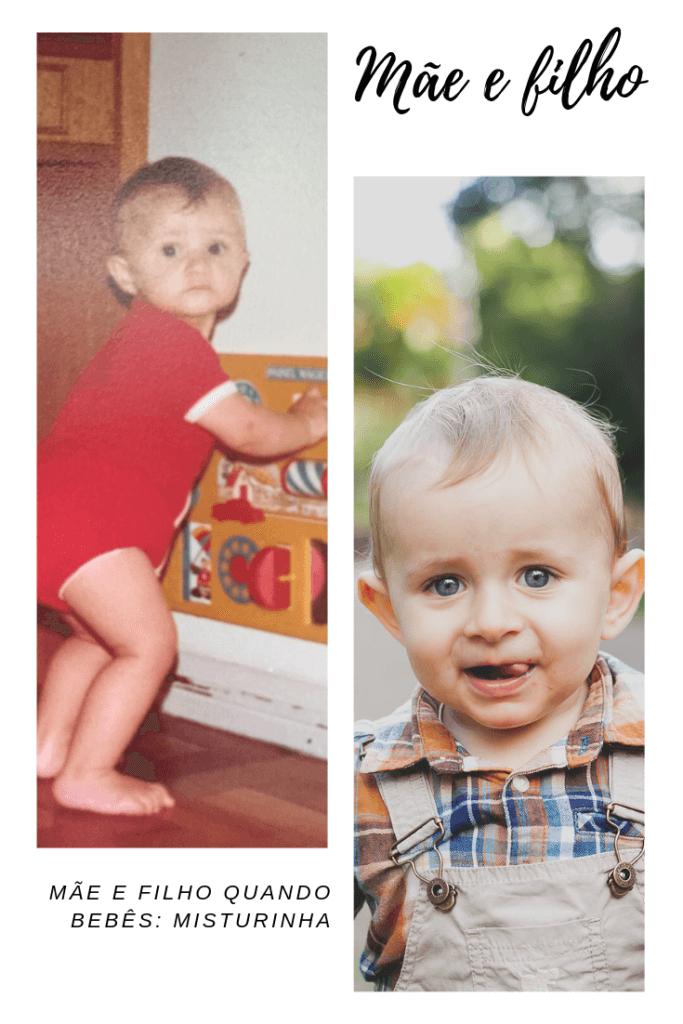 imagens de mãe e filho quando bebês