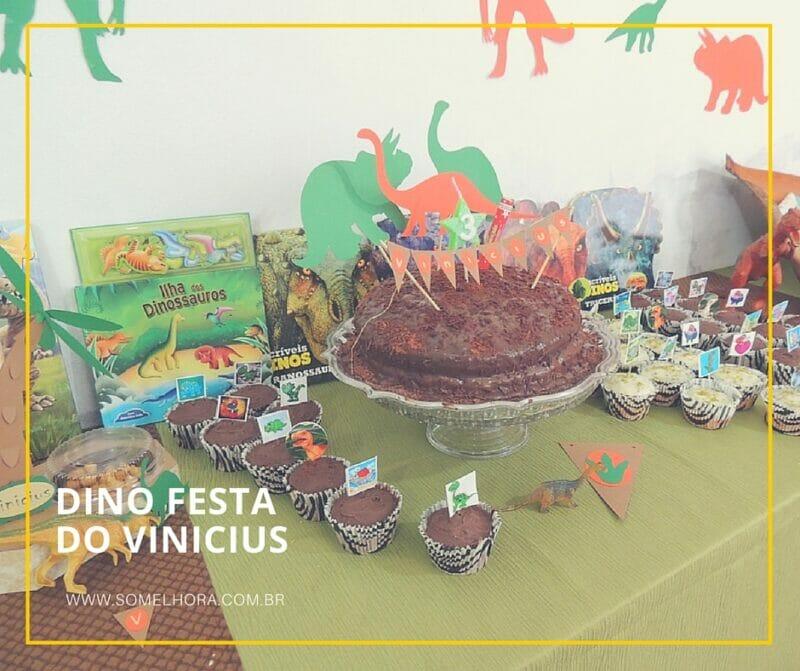 Dino Festa do Vinicius (festa infantil dinossauros)