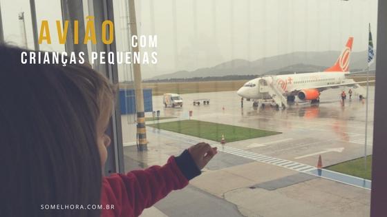 Avião com crianças pequenas – voo nacional diurno