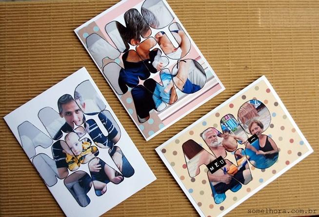 3 exemplos de cartão dia dos pais