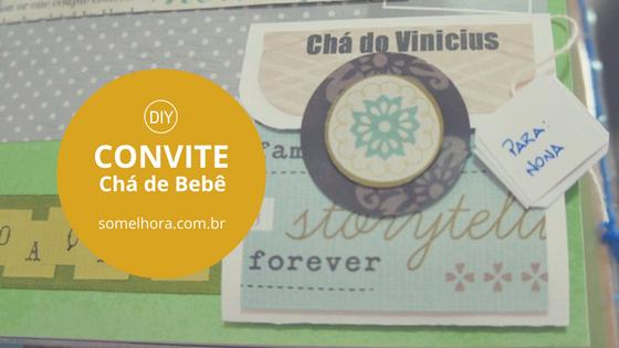 DIY Convite de Chá de Bebê com chá de verdade!