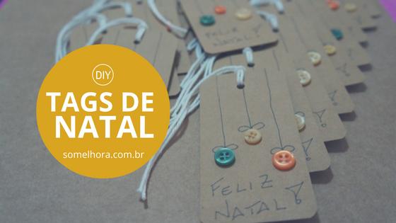 DIY Tags de Natal com botões (pra fazer rapidinho)