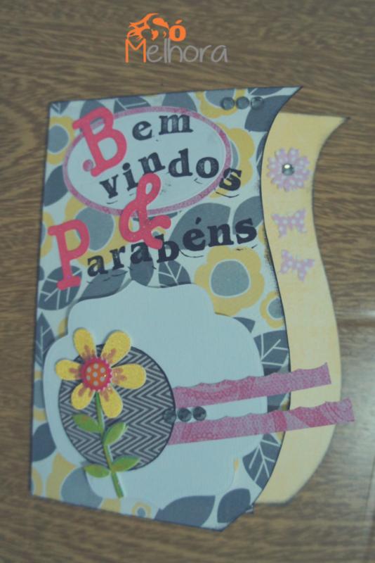imagem de cartão para anunciar a gravidez