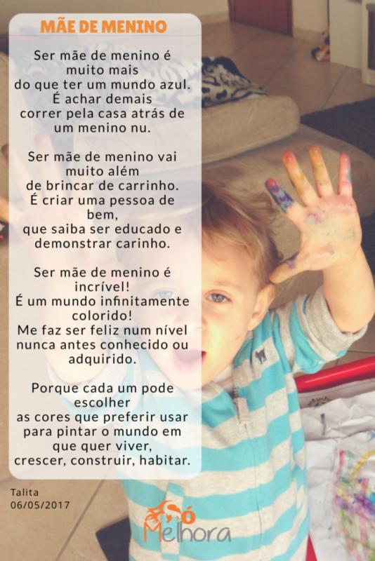 imagem com a poesia completa da mamãe de menino