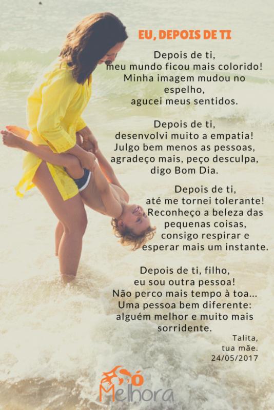 imagem de mãe e filho com poema