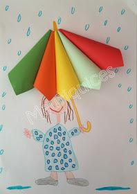 scrap inverno guarda-chuva