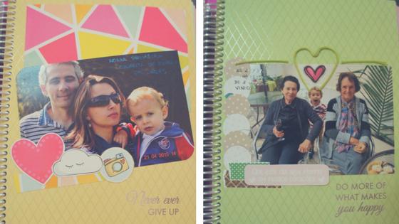 exemplos de capa de mês no planner e de como decoro minha agenda