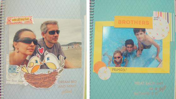 mais exemplos de páginas decoradas do planner