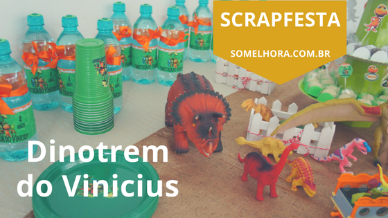 Scrapfesta Dinotrem do Vinicius – festa infantil 4 anos