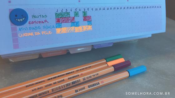 imagens do meu habit tracker no planner