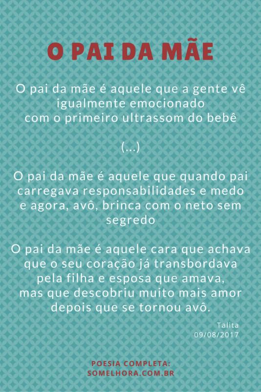 trechos do poema sobre o pai da mãe