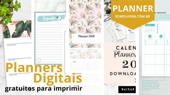 6 Planners Digitais para 2018 gratuitos para imprimir