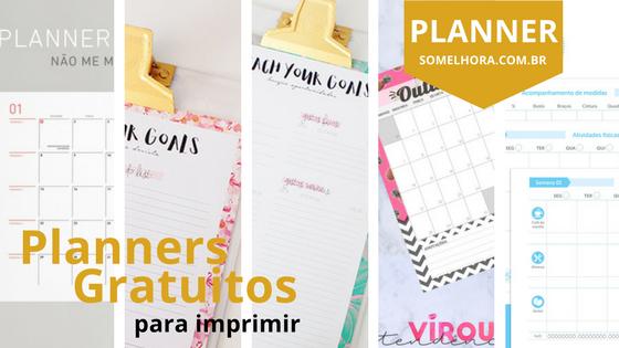 Mais Planners gratuitos 2018 digitais para imprimir (DOWNLOAD)