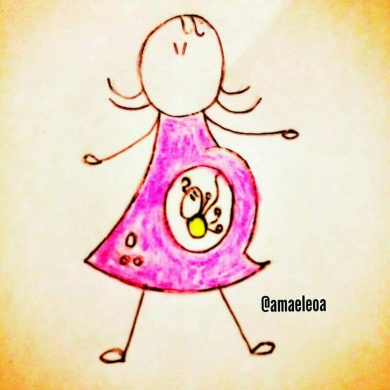 desenho de uma grávida