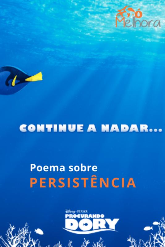 imagem com a frase poema sobre persistência