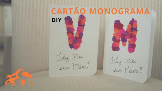 DIY Cartão Monograma de flores em 4 passos!