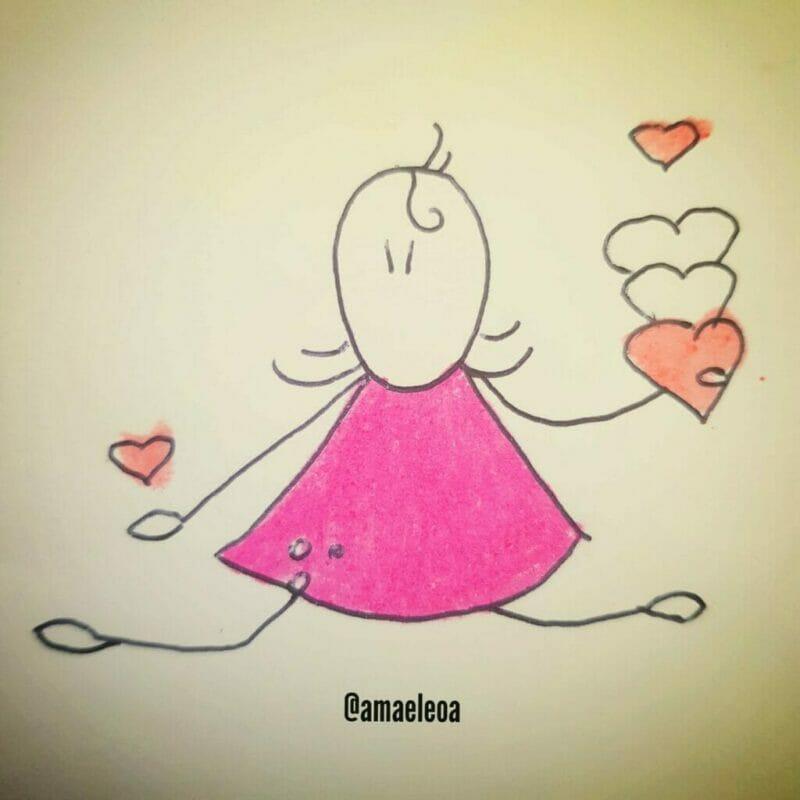 imagem de uma menina espalhando amor: a magia está por todo lado