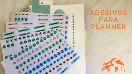 Adesivos para planner: como usar + arquivo para download