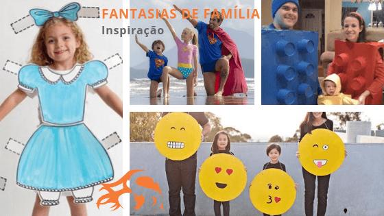 Família foliã: inspiração de fantasias de última hora