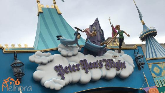 Imagem da entrada da atração Peter Pan's Flight - roteiro magic kingdom com criança