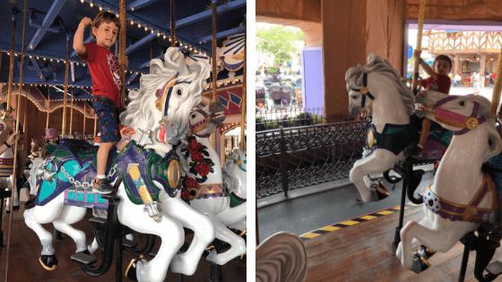 Imagens do Prince Charming Regal Carrousel - roteiro magic kingdom com criança