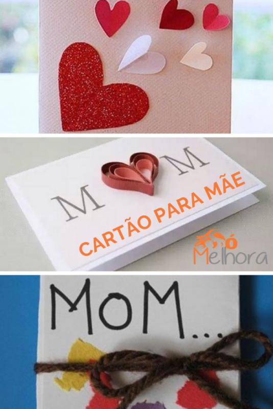 várias inspirações de cartões para o dia das mães
