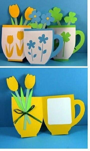imagem de flores de papel, mais uma dica de cartao para as maes