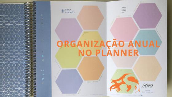 Organização anual (longo prazo) com o planner