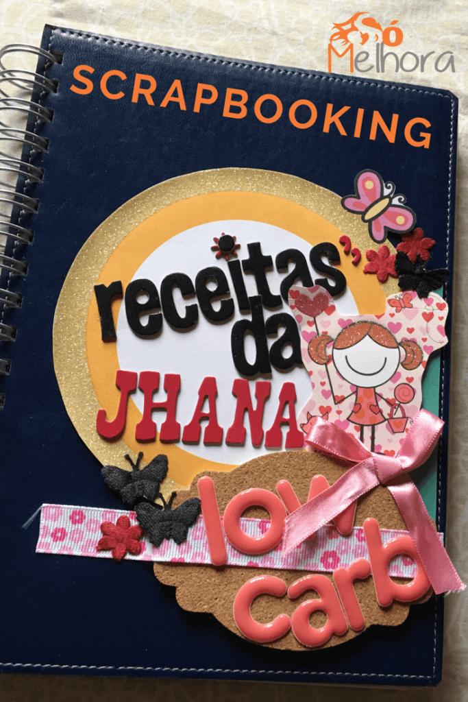 capa de um caderno de receita scrapbook