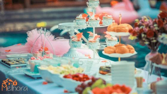 imagem de um buffet infantil