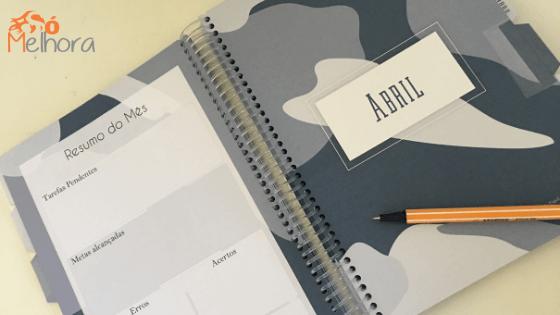 imagem da parte interna do planner masculino 2019 em pdf