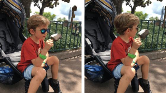 imagens de um menino com um sorvete do mickey