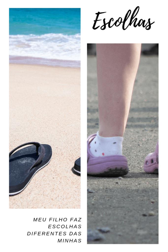 imagens de chinelas com e sem meias