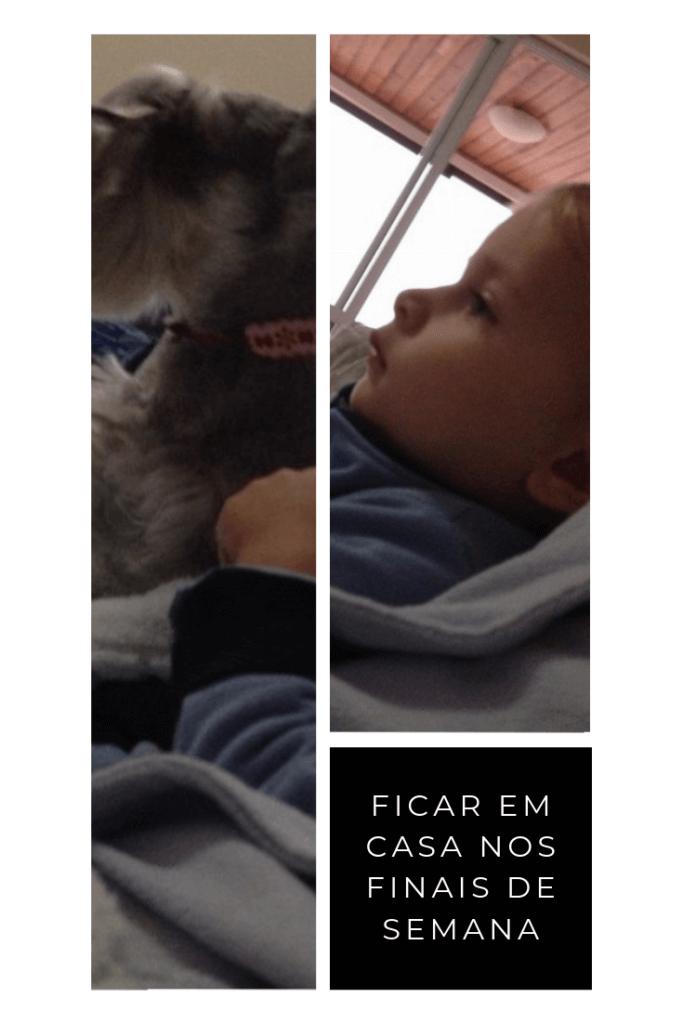 imagem de um bebê e seu cachorro