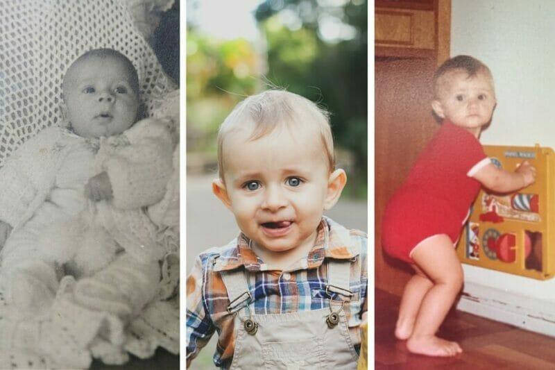 imagem do pai, filho e mãe bebês