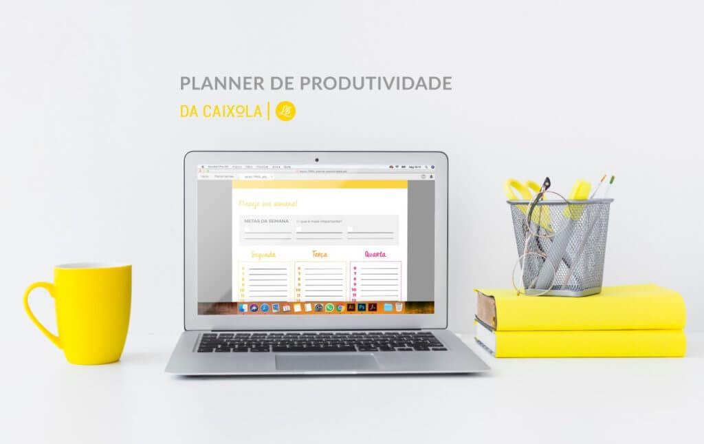 imagem de um planner de produtividade
