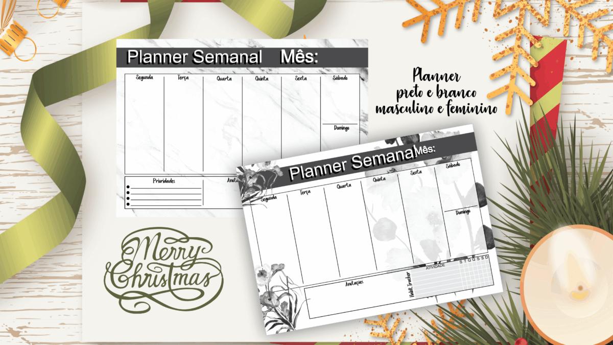 Planner Semanal download GRATUITO
