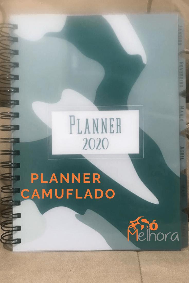 imagem da capa do planner 2020 camuflado