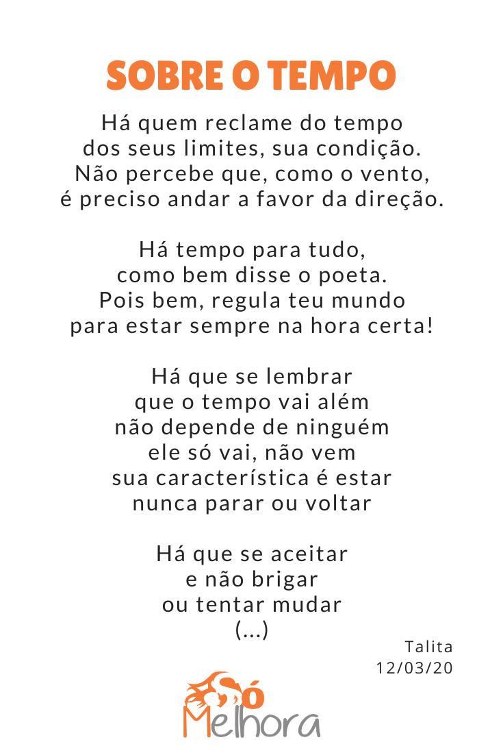 imagem com parte do poema sobre tempo