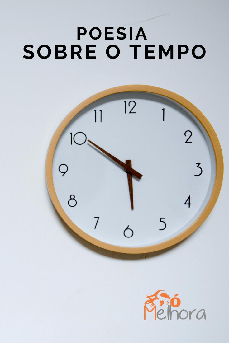 imagem de um relógio para ilustrar a poesia sobre o tempo