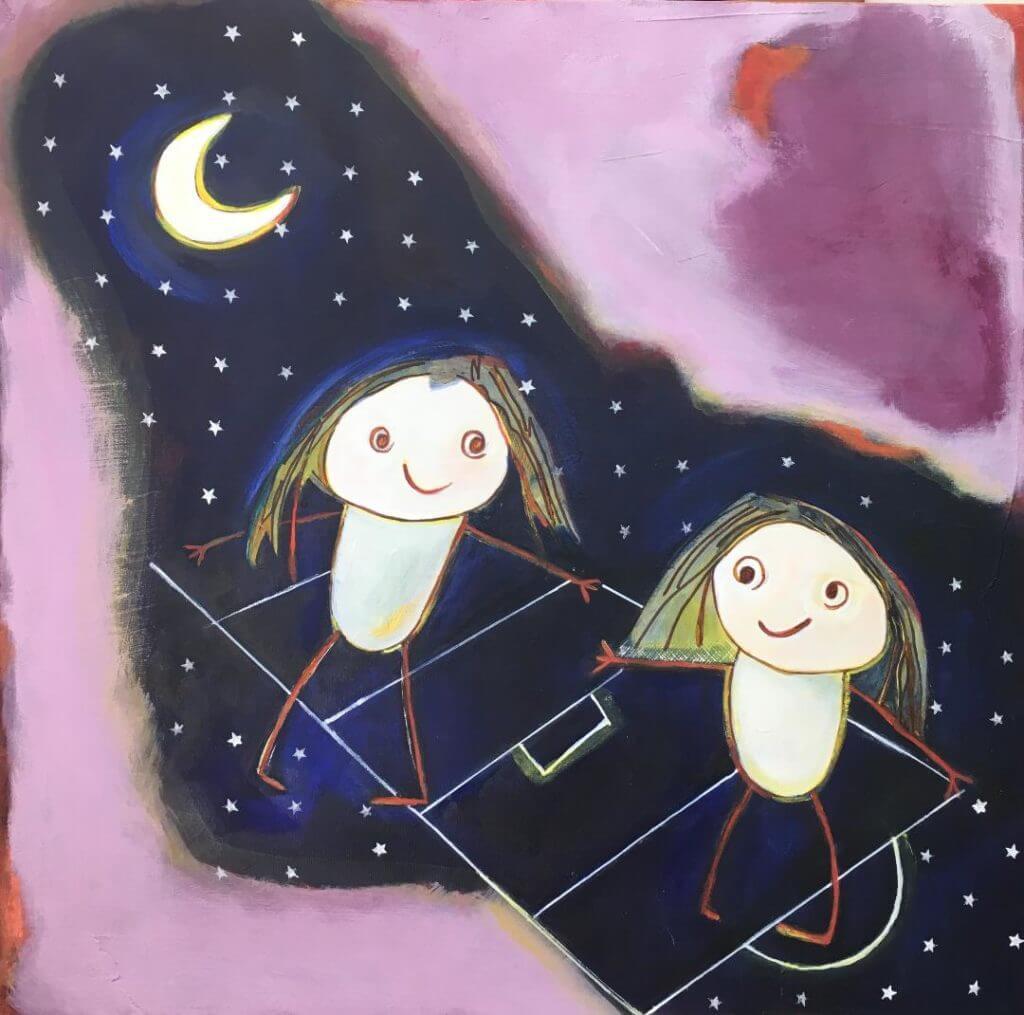 imagem de um quadro inspirado nos desenhos dos netos