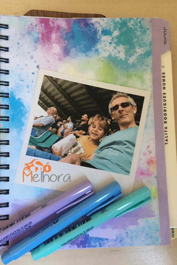 página do planner com foto impressa pelo Photo Surpresa