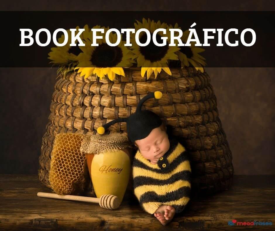 imagem de um bebê vestido de abelha para ilustrar o book fotográfico de bebê