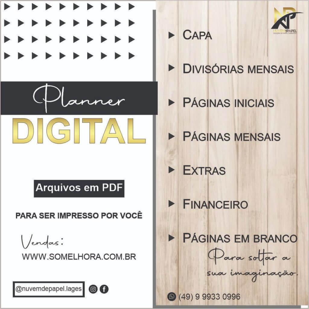 planner digital e arquivos em PDF