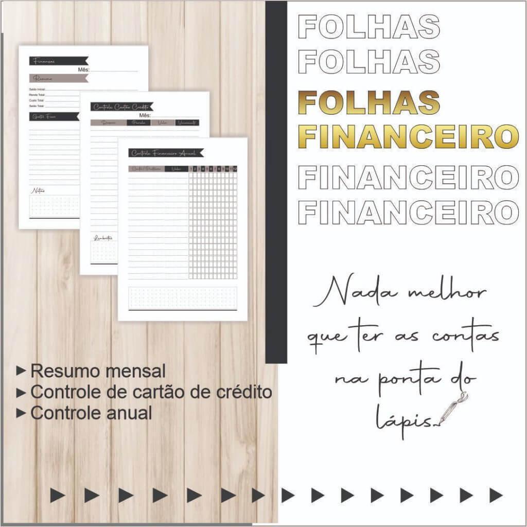 folhas do módulo financeiro