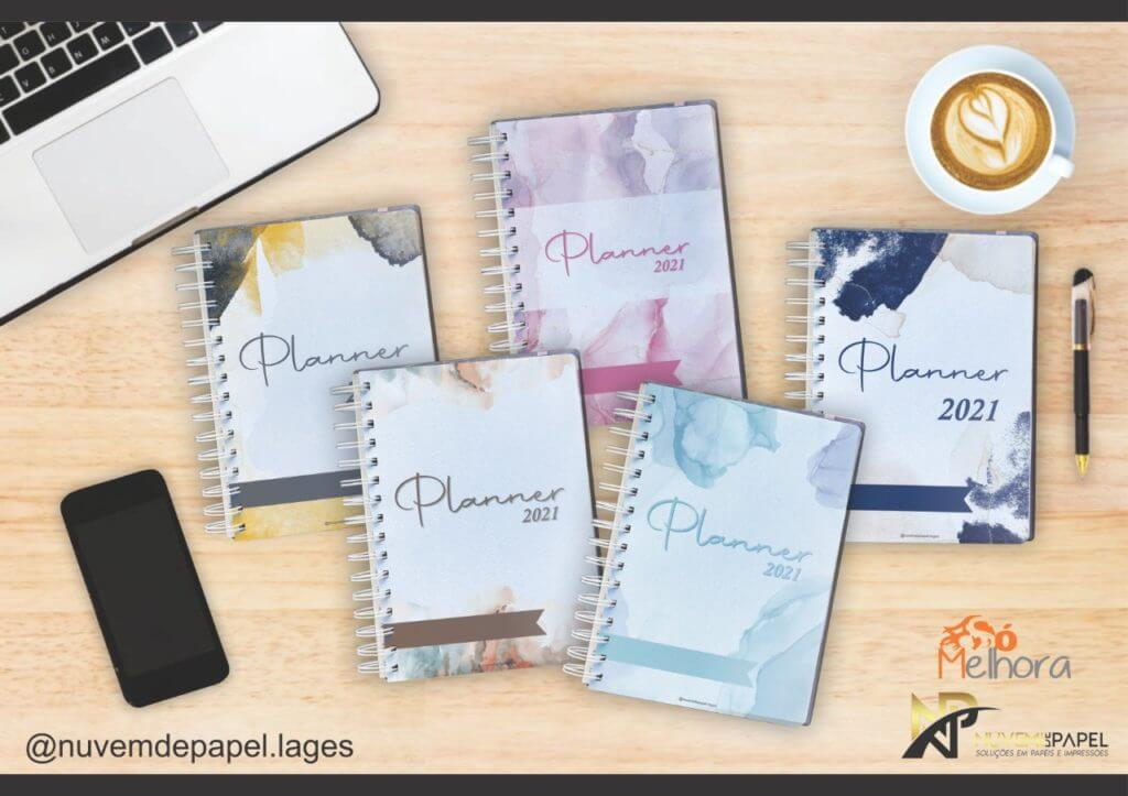 5 cores dos planners 2021